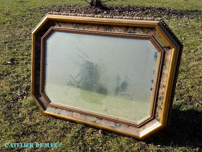 Un miroir dans le style shabby chic l 39 atelier de mat - Peindre un miroir dore ...