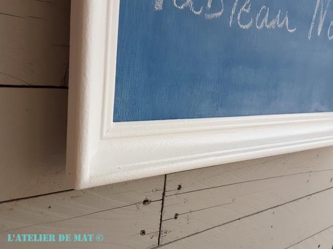 relooker un cadre avec de la peinture tableau noir maison l 39 atelier de mat. Black Bedroom Furniture Sets. Home Design Ideas