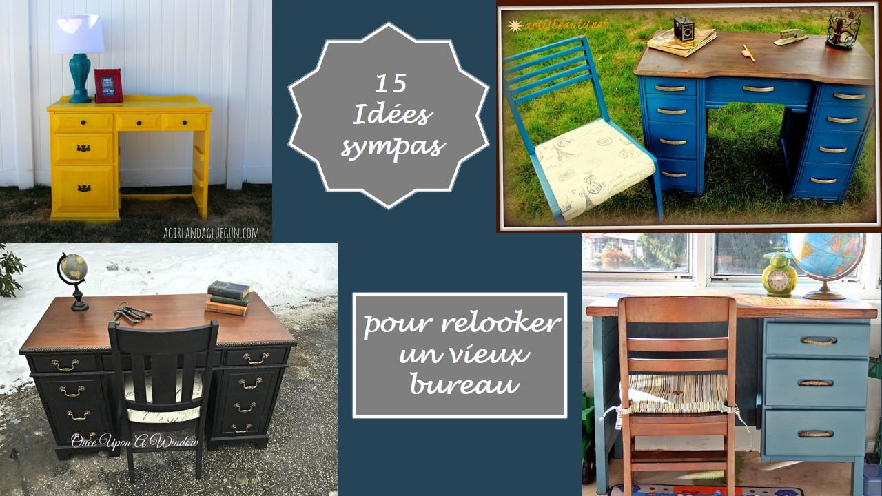 Relooker Un Vieux Bureau En Bois 15 idées sympas pour relooker un vieux bureau | l'atelier de mat