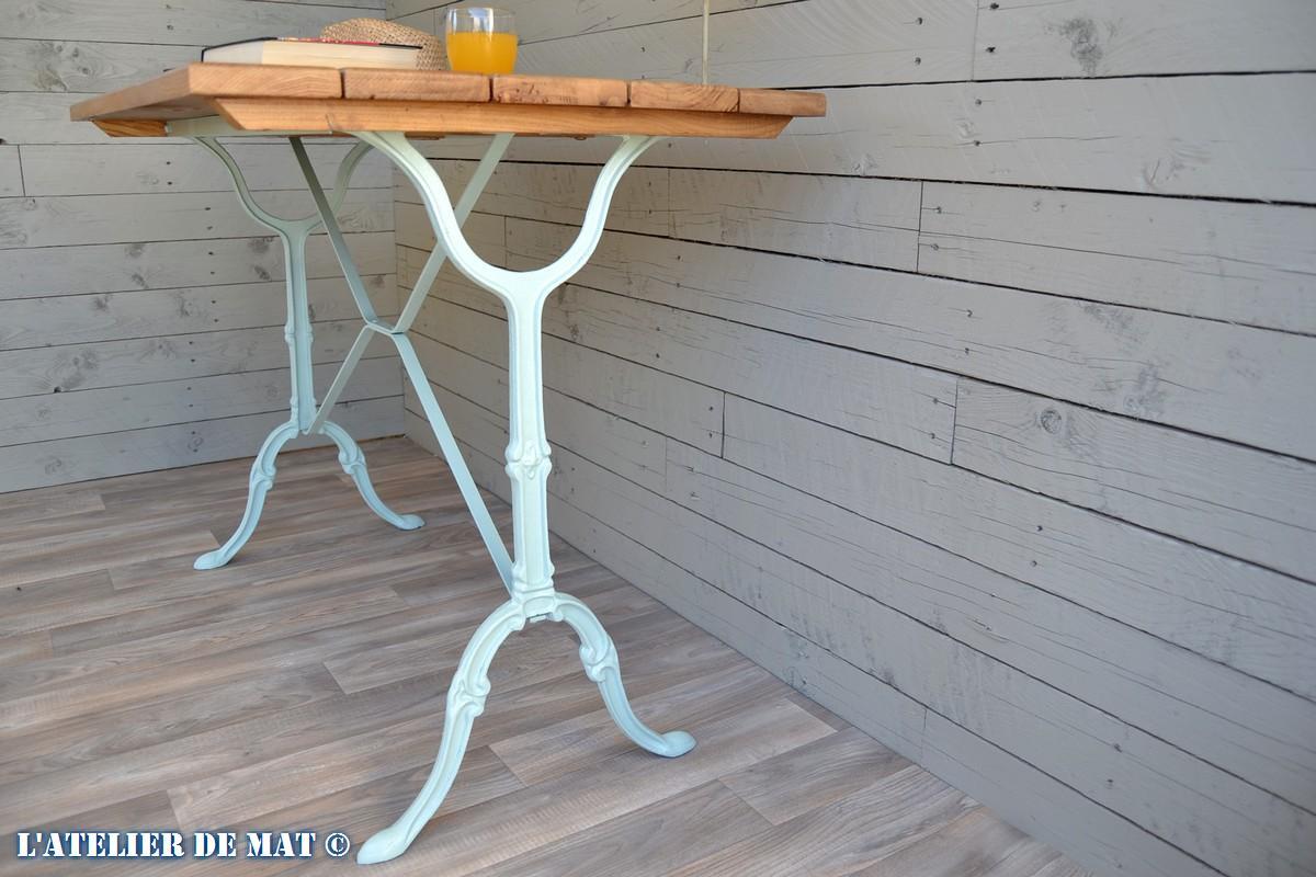 Retaper Une Vieille Caisse En Bois relooker une table bistrot rapidement et pour pas cher