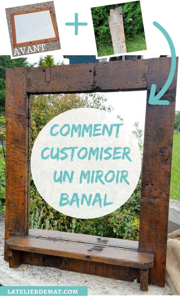 Customiser Un Cadre De Miroir relooker un miroir avec une seule planche | l'atelier de mat