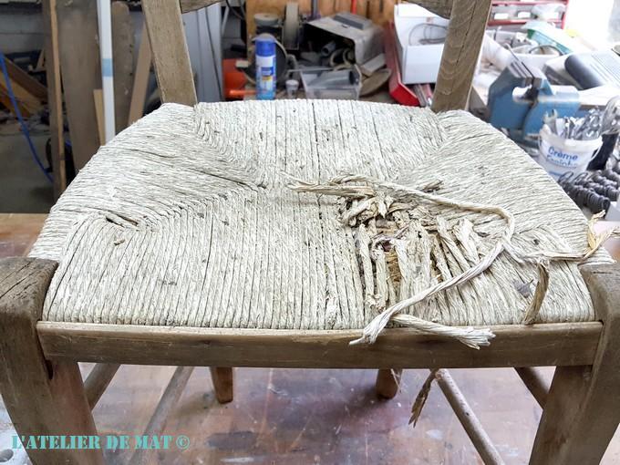 """Transformer une chaise paillée en chaise """"bistrot""""  L atelier de Mat"""