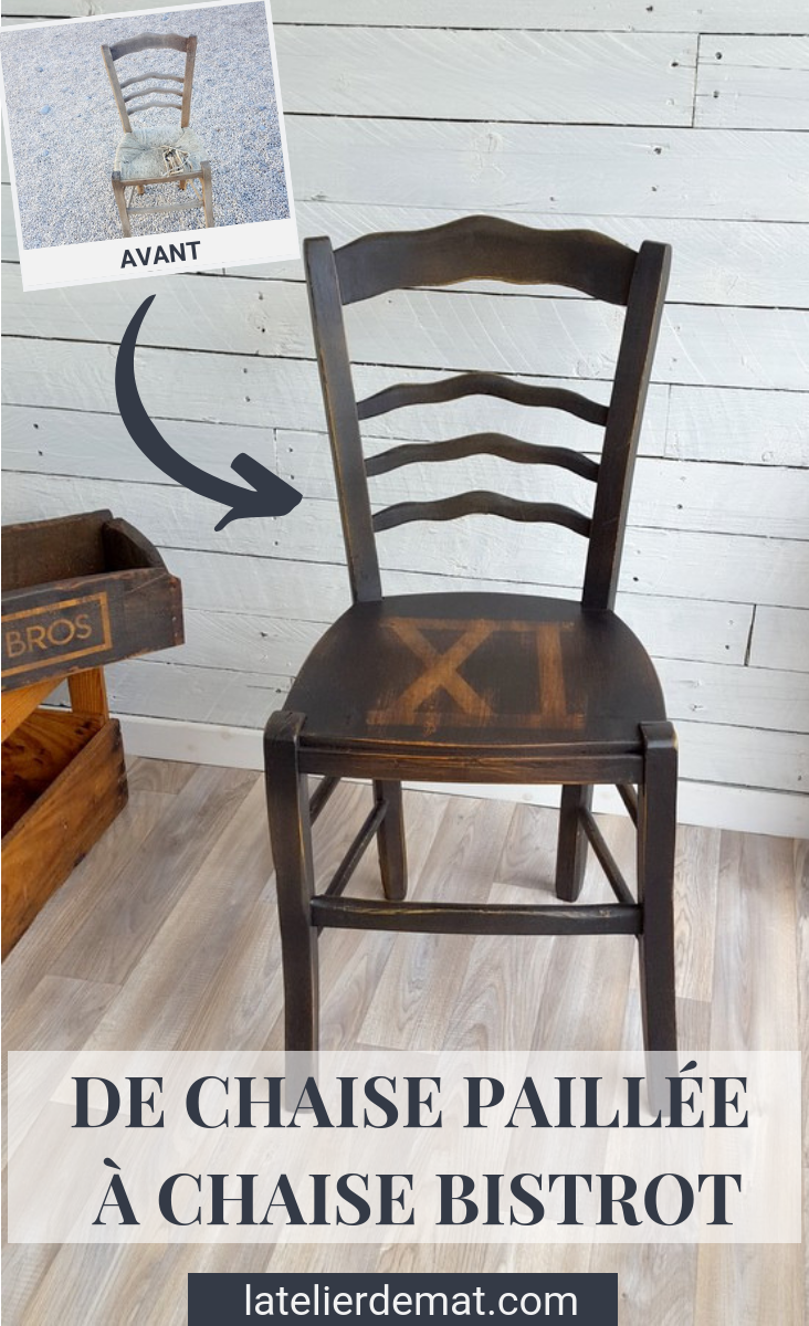 """Transformer une chaise paillée en chaise """"bistrot""""  Latelier de Mat"""
